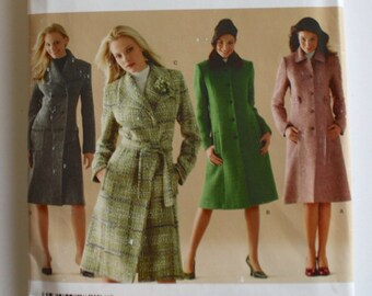 df11cea5a91 Winter Coat . Simplicity Sewing Pattern 4403 - Coat Collection with Wrap  Button or Double Breasted Closure - Size 16 to 24