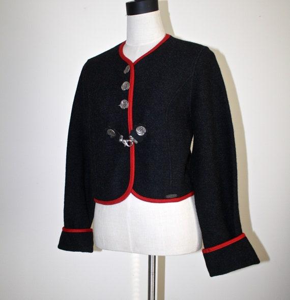 Sigi Scheiber AUSTRIAN Boiled Wool Cropped Jacket