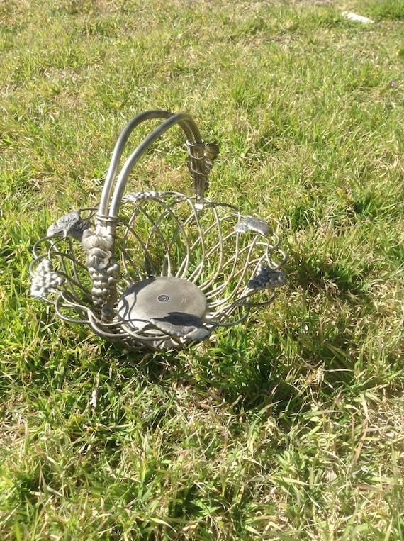 awesome Godinger Silver Art Co. Ltd Part - 5: Godinger Silver Art Co Ltd GSA Wire Basket Moveable | Etsy