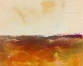 Orange Abstract Landscape...