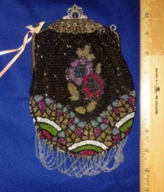 Antique gatsby wristlet purse