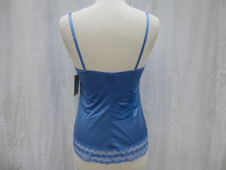 Camisole 3234 Small Turquoise Blue Glam Garb Handmade USA Hand-Dyed Vintage Lacy Chemise Retro Tank Romantic Victorian Boudoir Feminine