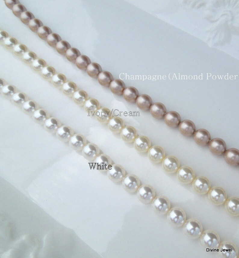 bridal necklace and bracelet set pearl jewelry SHELBY Bridal Jewelry Set Wedding jewelry set Pearl jewelry set bridesmaid jewelry set