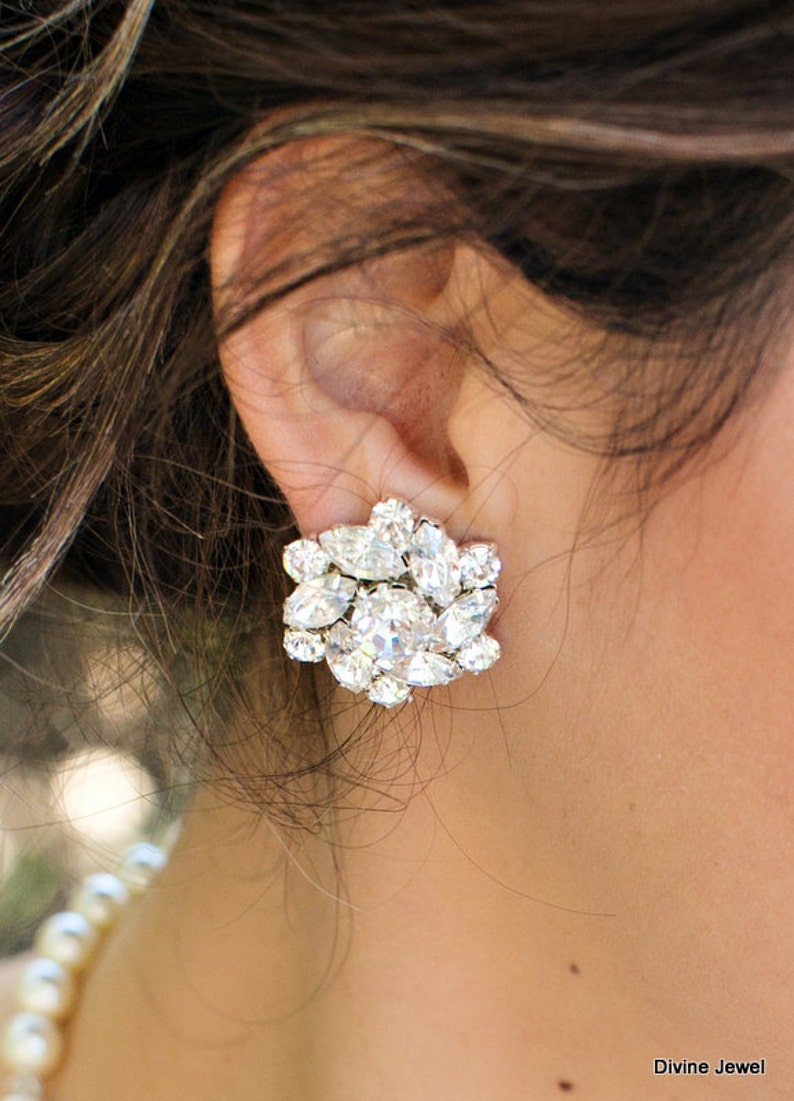 swarovski crystal Earrings Bridal Earrings wedding image 0
