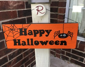 Front porch welcome sign, decoration - 2 sided Let Freedom Ring and Happy Halloween