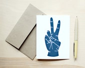 Peace Hand Greeting Card
