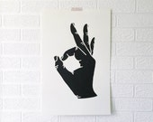 OK Large Silk-Screened Print