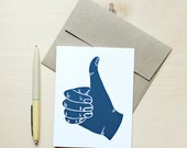 Thumbs Up Congrats Greeting Card