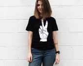 Unisex Peace Adult Tee, Unisex Adult Tshirt, Peace Shirt, Adult Fashion, Unisex Graphic Tee, Strawberry Moth