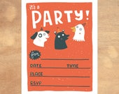 Animal Birthday Invitation - Printable Birthday Invitation - Digital Invitation - Digital File - Kids Party Printable Digital File - Kids