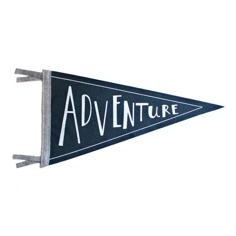 Admirable Adventure Wool Pennant Flag Wall Hanging Screenprinted Flag Children Room Decor Adventure Kids Decor Printed Banner School Flag Camp Download Free Architecture Designs Salvmadebymaigaardcom
