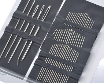hand sewing needles, 40 Hand sewing needles assorted size, Needle with a large eye, assorted hand needles set DIY gift idea 1supply.etsy.com