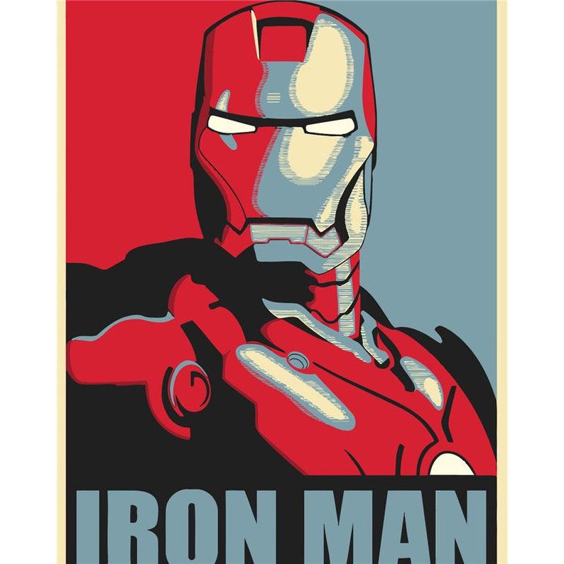 Malen Sie Nach Zahlen Kit Eisen Mann Diy Malerei Marvel Eisen Mann Bild Auf Leinwand Malen Wandkunst Färbung Durch Anzahl Diy Geschenk Malerei 16
