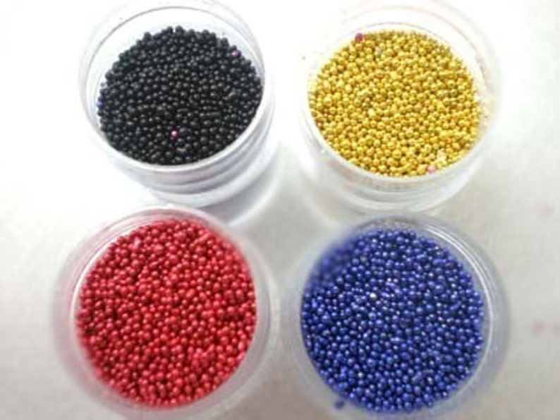 for Miniature Food Deco and Nail Art Fake Sugar Sprinkles  Micro Marbles Gold Pearl