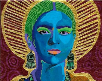 La Friducha: Blue Frida, Frida Kahlo-Inspired Art Prints