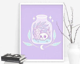 Pastel Terrarium Art Prints - A5 / 5x7in / Large / Mini - Signed