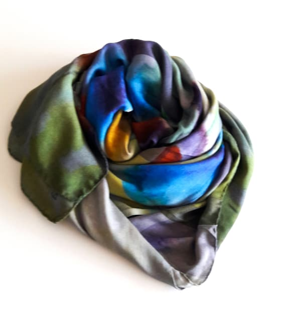 Beach Wrap//Scarf 100/% Modal Made in Italy Woman/'s Fashion Flora Design Scarf
