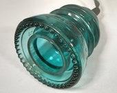Vintage Telegraph Aqua Glass Insulator Single Pendant Light decorative lighting mood light