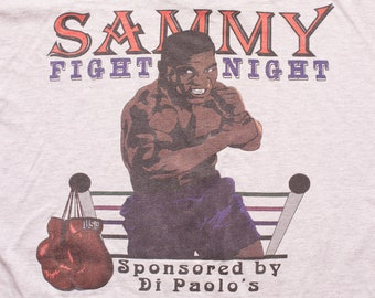 07436382 90s Mike Tyson Bootleg T-Shirt, Sammy Fight Night, XL, Vintage 1990s, Boxing  Graphic Tee, Di Paolo's, 1992, Throwback Hip Hop Streetwear