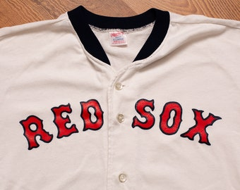 2534ff362 Boston Red Sox Baseball Jersey, Rawlings, Vintage 1980s, MLB Team Apparel,  Short Sleeve Graphic T-Shirt, Button Front