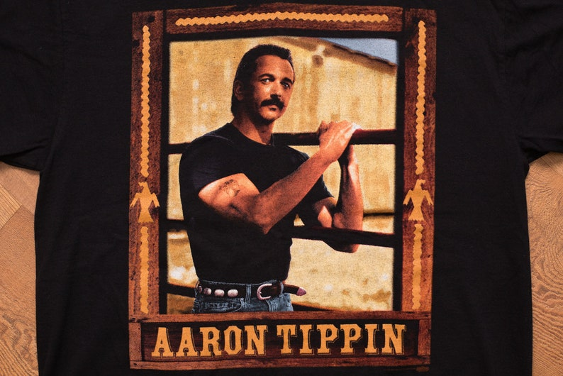 Aaron Tippin T-Shirt, M/L, Tool Box Album, Vintage 1990s, 2-Sided Graphic  Tee, Winterland, 1995 Concert Tour, CD Cover Artwork