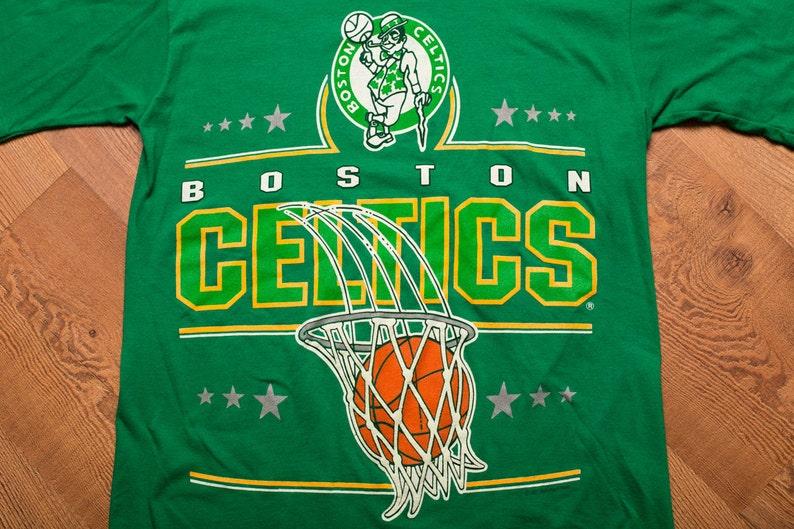hot sale online d9d4a 8e437 90s Boston Celtics T-Shirt, Classic Leprechaun Logo, Vintage 1990s, 1991  NBA Graphic Tee, Basketball Team Apparel