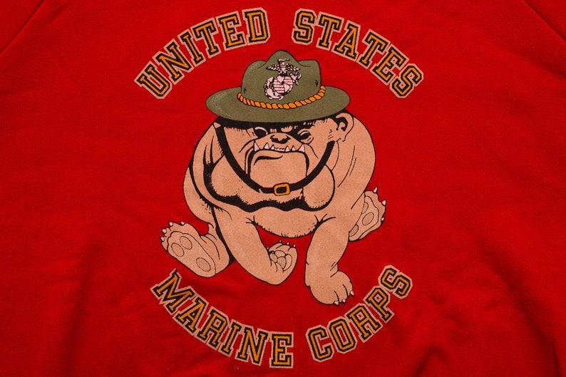 USMC Bulldog Raglan Sweatshirt, US Marines, Vintage 1980s, United States  Marine Corps, Long Sleeve Crewneck Shirt, Bull Dog Sergeant