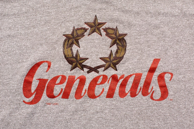 size 40 5d80f 4f83e 80s New Jersey Generals T-Shirt, S, Vintage 1980s, 1982 USFL Apparel,  United States Football League Team, Graphic Tee, Throwback Sportswear