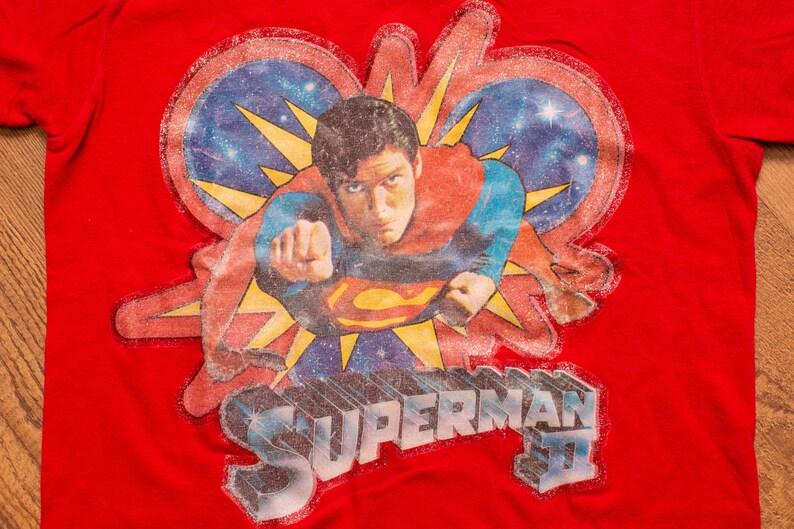 63556d69e77a1 Superman II Movie T-Shirt Vintage 1980s Super Man Graphic