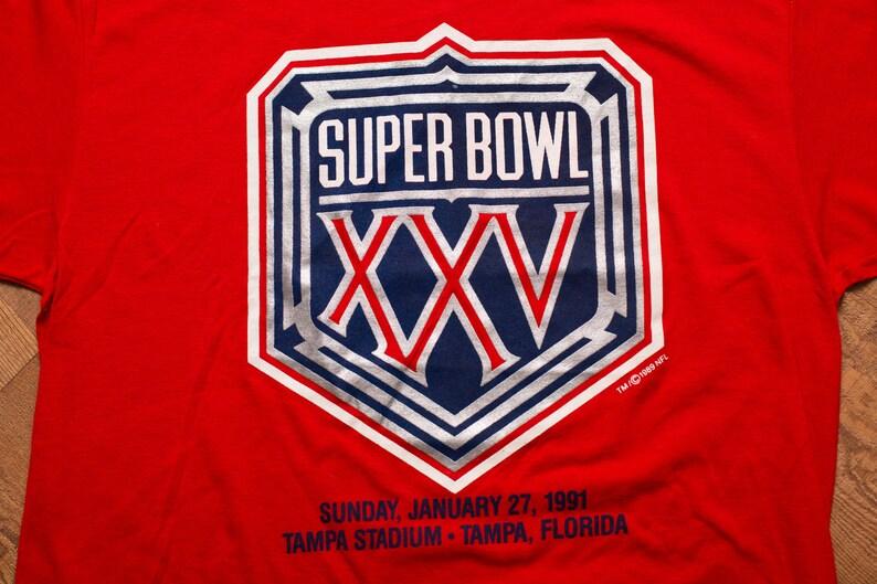 63330d38f Super Bowl XXV Big Logo T-Shirt Retro NFL Apparel Trench