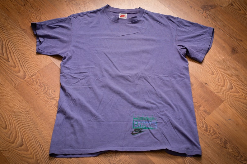 b4e38190ce2ad NIKE Extreme Volleyball T-Shirt, L, Vintage 1990s, Just Do It, Beach  Sportswear, Short Sleeve Graphic Tee, Hip Hop, Purple, Swoosh Logo