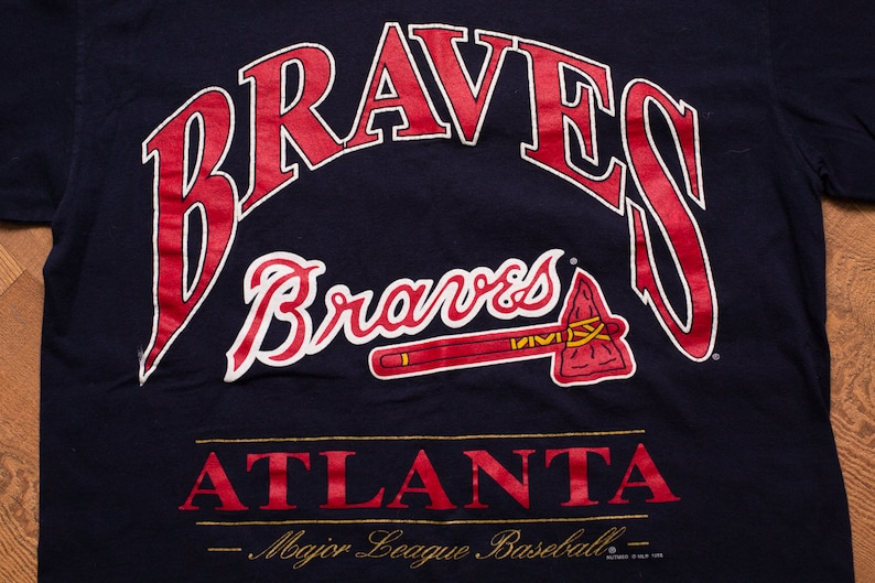 088e14a8d4390 Atlanta Braves T-Shirt Tomahawk Logo Icon Lee Sport Vintage