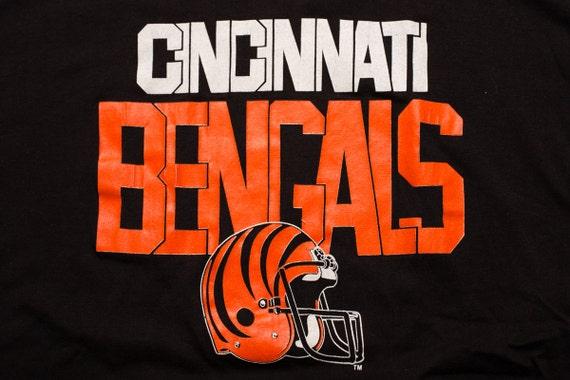 f72fa337 80s Cincinnati Bengals T-Shirt, NFL Ohio Team Apparel, Trench, Vintage  1980s, Short Sleeve Graphic Tee