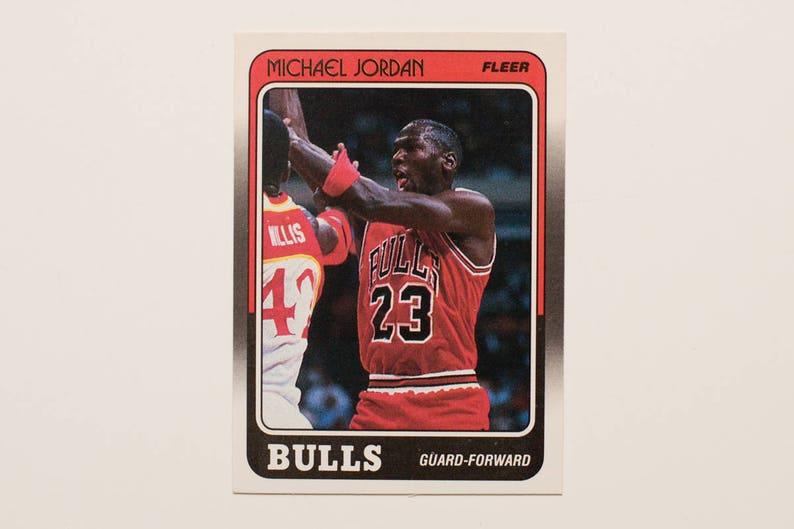 505a3457f93 Michael Jordan 1988-89 Fleer 17 Basketball Trading Card   Etsy