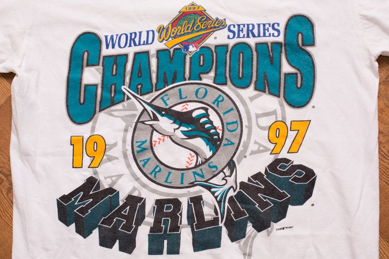 989781e12dc 1997 Florida Marlins World Series Champions T-Shirt Vintage