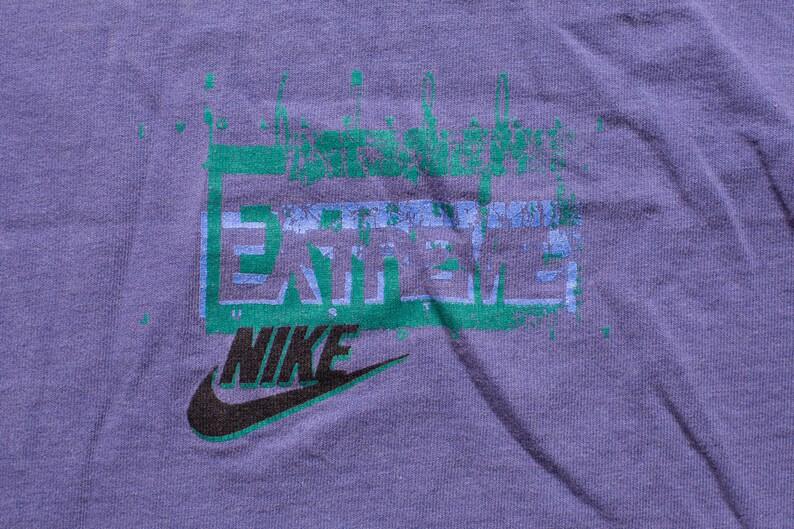 50eb6cd9cd52d 90s NIKE Extreme Volleyball T-Shirt, L, Vintage 1990s, Just Do It, Beach  Sportswear, Short Sleeve Graphic Tee, Hip Hop, Purple, Swoosh Logo