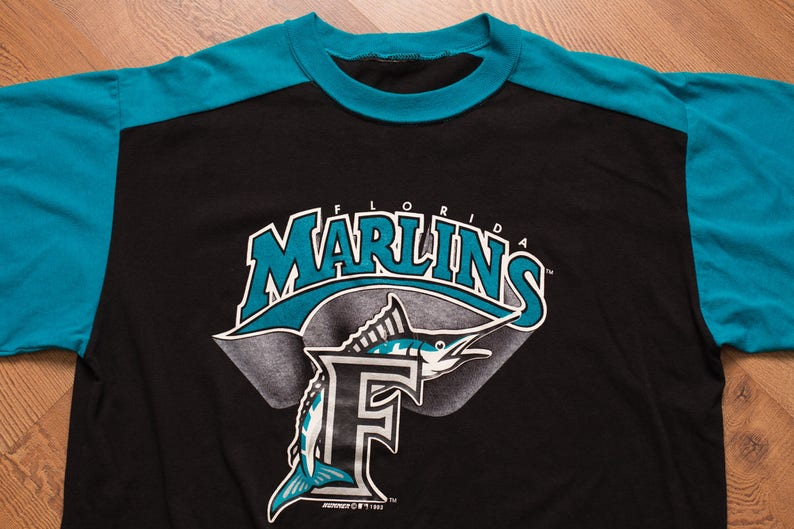 2aac7668b 1993 Florida Marlins T-Shirt Inaugural Season Vintage 90s