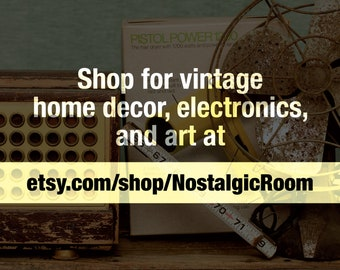 Visit etsy.com/shop/NostalgicRoom for Vintage Home Decor, Electronics and Art