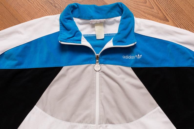 SweatChemise Noir Colorblock Hip Veste De Trefoil VeloursMVintage Blanc Athletic Jogging Gris 1980 STurquoise Adidas Hop Sportswear Logo L5A4Rj