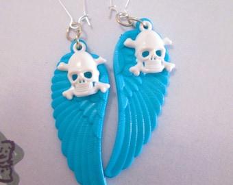 Devil's Blue N White Delight Earrings