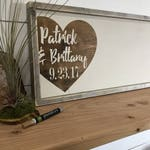 Guest Book Alternative -  Wedding Guestbook - Rustic Wedding Decor - Wedding Gift Sign - Wedding Names and Dates