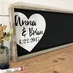 Wedding Guest Book Alternative - Rustic Wedding Guest Book - Wood Guestbook