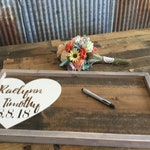 Rustic Wedding Guest Book -  Wedding Decor - Wood Guestbook -  Alternative Guest Book - Wedding Gift Sign - Gift for couple