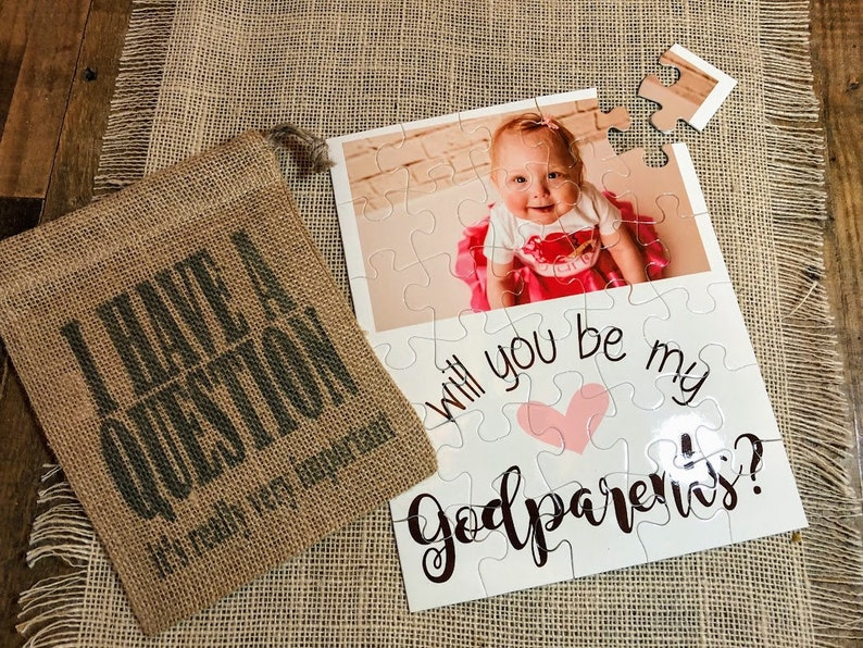 Proposal  Puzzle Gift  Godparents Gift  Will you be my image 0