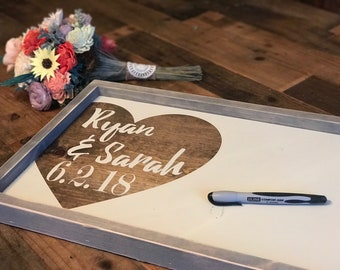 Guest Book Alternative -  Wedding Guestbook Custom Wedding Guestbook - Wedding Gift Sign - Wedding Names and Dates