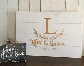 Rustic Wedding Guest Book - Wedding Guestbook