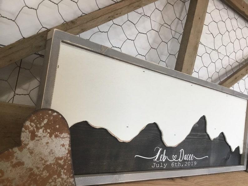 Wedding Guest Book Alternative  Mountain Wall Art   Mountain image 0