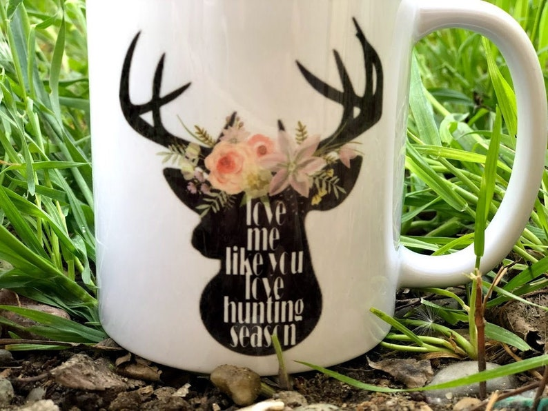 Hunter Wife Mug  Hunting Season Coffee Mug  Deer Season Mug image 0
