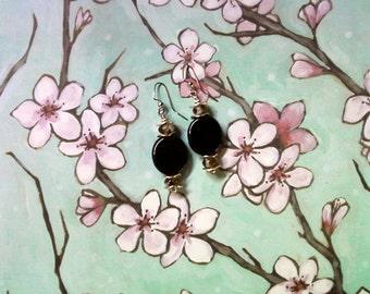 Black, Brown and Silver Earrings (2054)