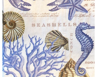 Sea Life Napkins Etsy